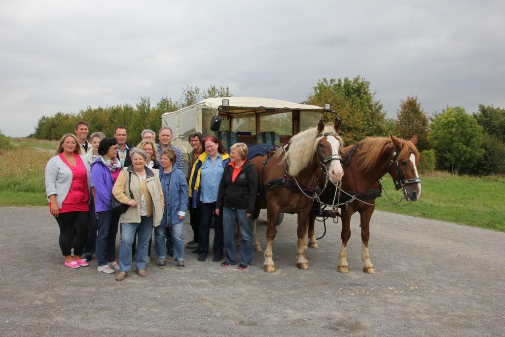 Planwagenfahrt am 30.August 2014 von Lehrte zum Kronsberg - Hannover